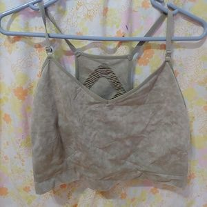 Cacique light army green racerback bra